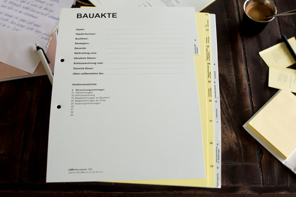 Bauregister, 2-farbig